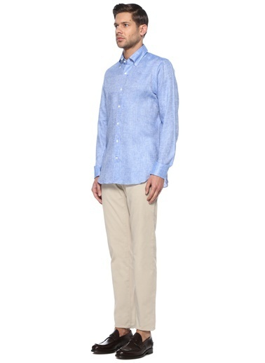 Luciano Barbera Gömlek Mavi